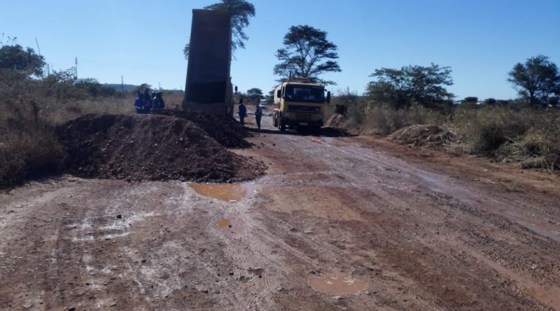 In Picture : Construction vehicles at work at one of the roads in Redcliff